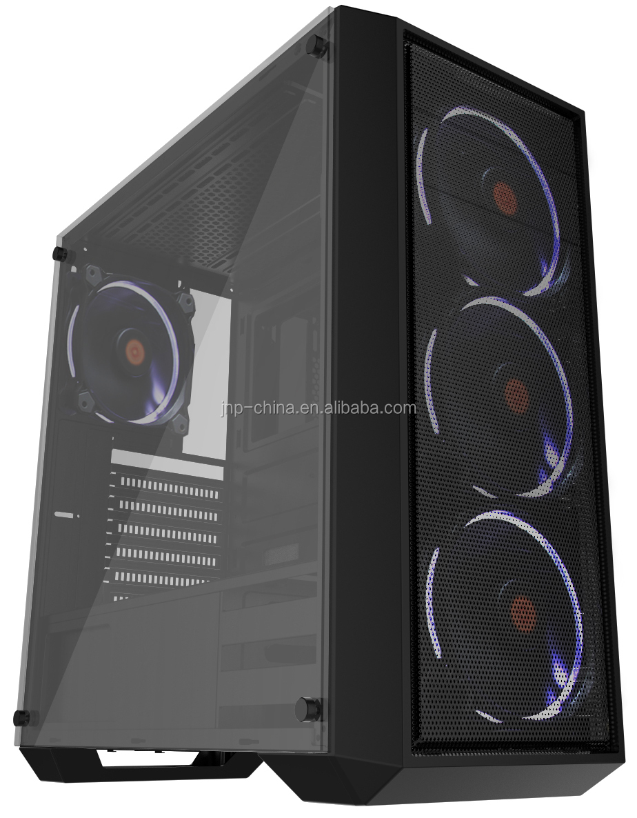 Factory Supply Tempered Glass ATX Gaming Desktop Computer Case