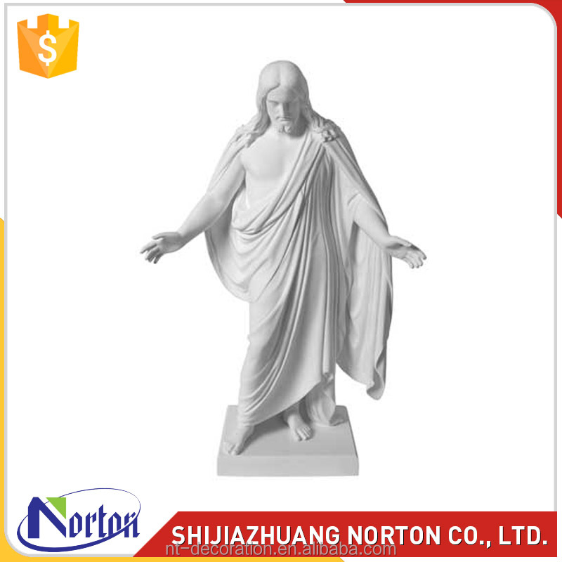 Hand carved memorial jesus statues stone for sale NTMS-R075Y