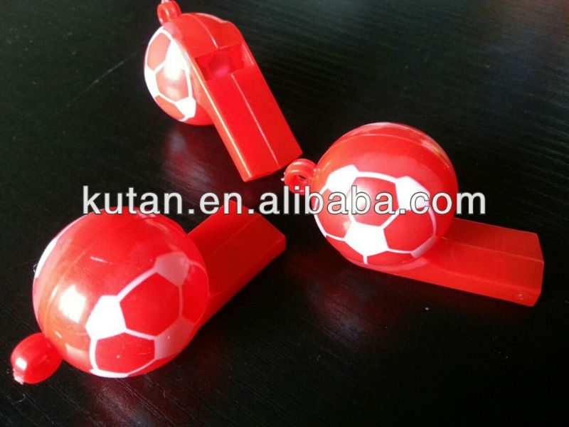 World Cup Football Shaped Plastic Whistles