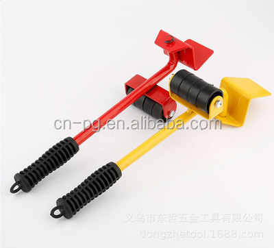 yellow red base accessories plastic mover  transport tool single crowbar
