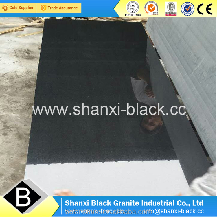 polished china black shanxi black granite with golden spots golden dots granite monuments for Iran country