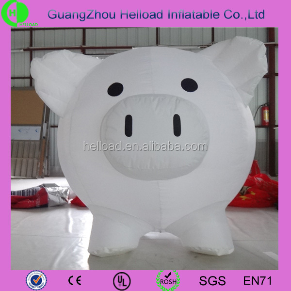 Hot sale superior quality giant inflatable pig customized cartoon animal/characters for kid/advertising
