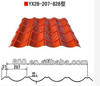 various metal roof/high quality metal roofing