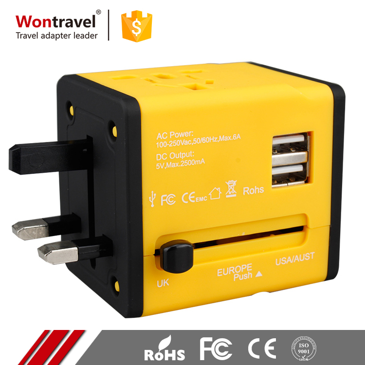 Worldwide UK American English Plug Power Adaptor Smart Wifi Universal Travel Adapter With USB