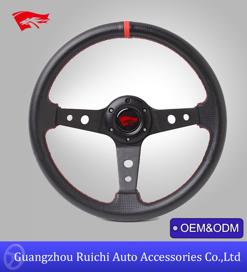 Marine Style Carbon Fiber Leather Steering Wheel from China Automobile Factory(RC-5130)