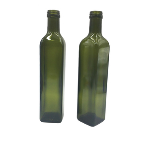 Wholesale 100ml 250ml 500ml 750ml 1000ml clear amber dark green olive oil glass bottle round square cooking oil empty bottle