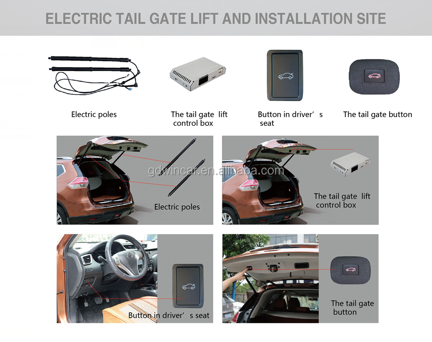Electric Power Operated Tailgate For Toyota Highlander 2015