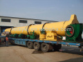 Fine rotary dryer for drying slag and clay