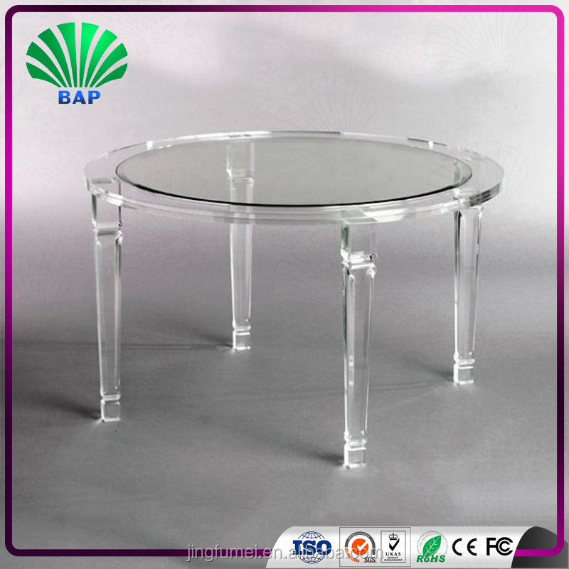 Modern commercial acrylic table clear Glass home used nail bar furniture