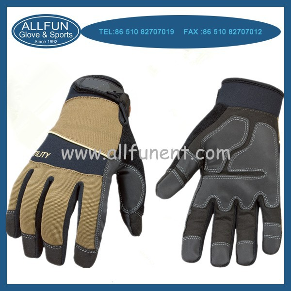 2015 OEM quality wear-resistant non-slip mechanic garden gloves