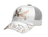 newest gold foil printing mesh trucker cap and hat