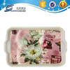 Plastic steel plate with two handle plastic lunch tray