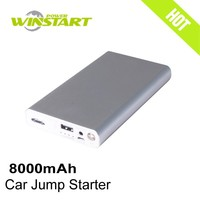 car jump starter 12v mini battery booster 8000mah power bank mini portable car battery charger emergency tool