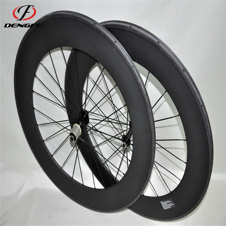 carbon fiber bicycle wheels Tubular 700C 86mm Depth carbon road wheelset