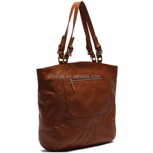 Fashion latest ladies handbags brown oe leather handbags