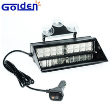 Car interior mount led police warning dash light for emergency vehicles