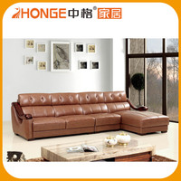 Home Furniture Wood Frame Half Price Loft Style Simple Leather Sofa