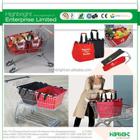 Reusable shopping trolley cart bag