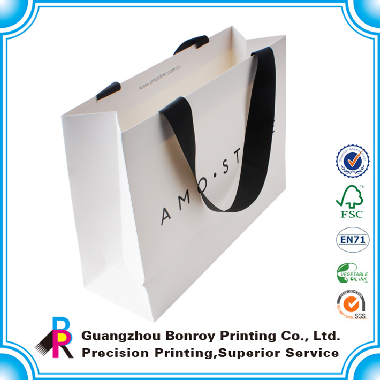 Custom logo matte laminated paper printed wholesale shoe bag