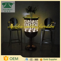 Glowing furniture glowing led light wholesale pub bar table