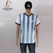 New Style 100% Cotton Stripe Men's Tshirs Blank T shirt Printing