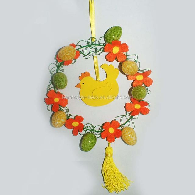 Wholesale easter ornament easter decoration 20cm easter egg wreath