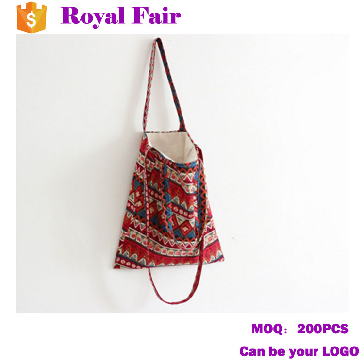 Colorful Ethnic Style Canvas Shouder Bag Tote Bag