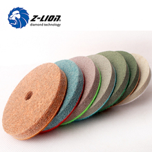 Z Lion factory manufacture diamond marble sponge buffing polishing pad