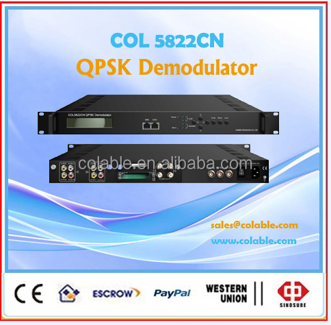 digital sd qpsk ird, DVB-C, T/T2, S/S2 scrambled channels satellite decoder ,2channel tuner to PAL/NTSC tv decoder COL5822CN