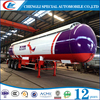 Promotional LPG Road tanker capacity 30Tons LPG Gas Trailer for sale in Tanzania