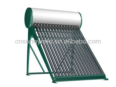 Integrated non-pressure solar water heater for homes
