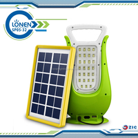 LONEN 54SMD dual face lighting phone charging led solar camping lantern