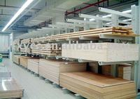 cantilevered rack for pipe and long material