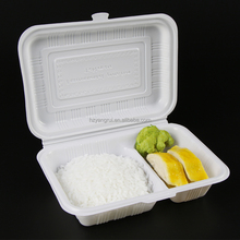 Disposable Fast Food Packaging Box Biodegradable Clamshell Food Containers