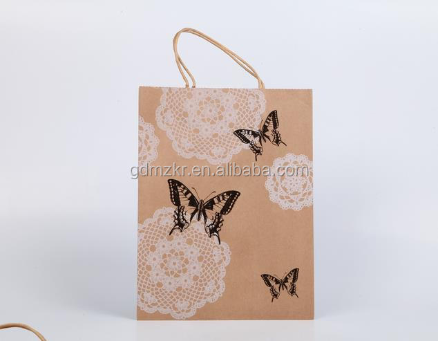 customer's design accept high quality logo printed craft paper bag