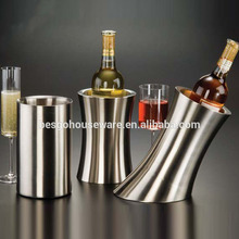 stainless steel tabletop ice bucket double wall wine cooler
