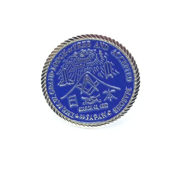 custom your own logo freemason challenge coins
