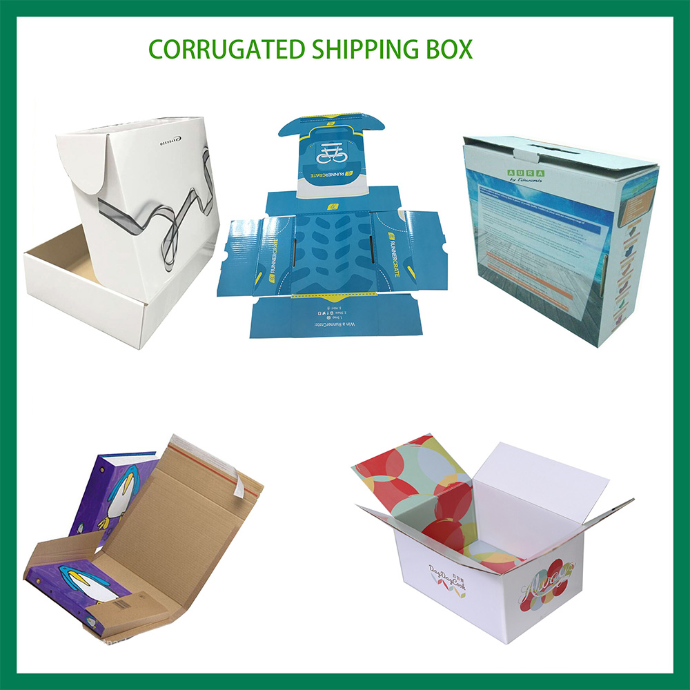 Direct factory corrugated paper box offeset CMYK strong paper