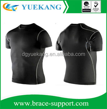 Mens Wear Stretch Compression Top Shirt, Slimming Body Shaper Short Sleeve Shirt