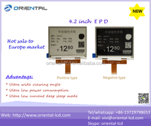 Ultra dot matrix 4.2 Inch EPD E paper price display with high resolution and low prower