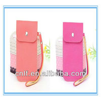 Leather, PU Mobile Phone Bean Wrist Bags, Pouch for Girls