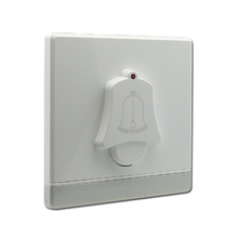 1 gang pc material white color door calling bell wall switch