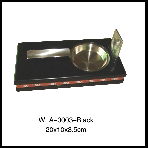 hot sell black crystal pipe antique metal ashtray