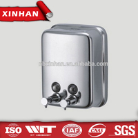 304 stainless steel foam soap dispenser, wall mounted liquid soap dispenser pump