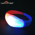 Promotional Custom Silicon Sound Motion Activated Concert Flag Led Flashing Bracelet For Halloween Party