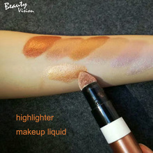 Waterproof face makeup highlighter cream private label foundation liquid highlighter makeup