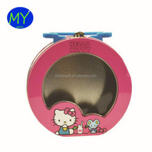 Factory direct sale fancy tin lunch box/ metal tin suitcase window lunch tin for home use