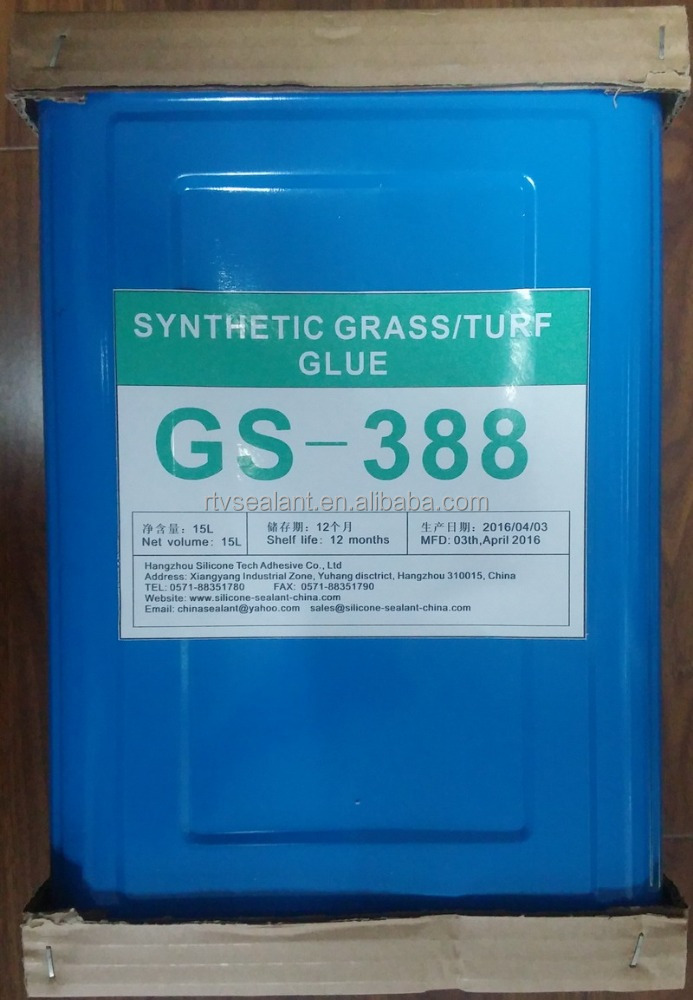 Water resistant artificial turf glue adhesive