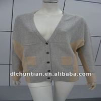 100% cashmere knitting cardigan sweater