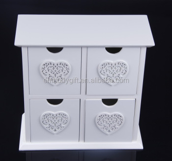 Retro and practical special design wooden MDF jewelry box